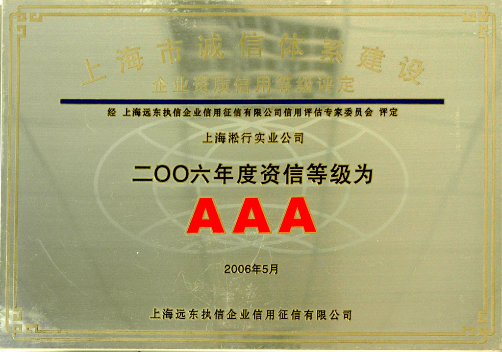AAA credit rating of 2006