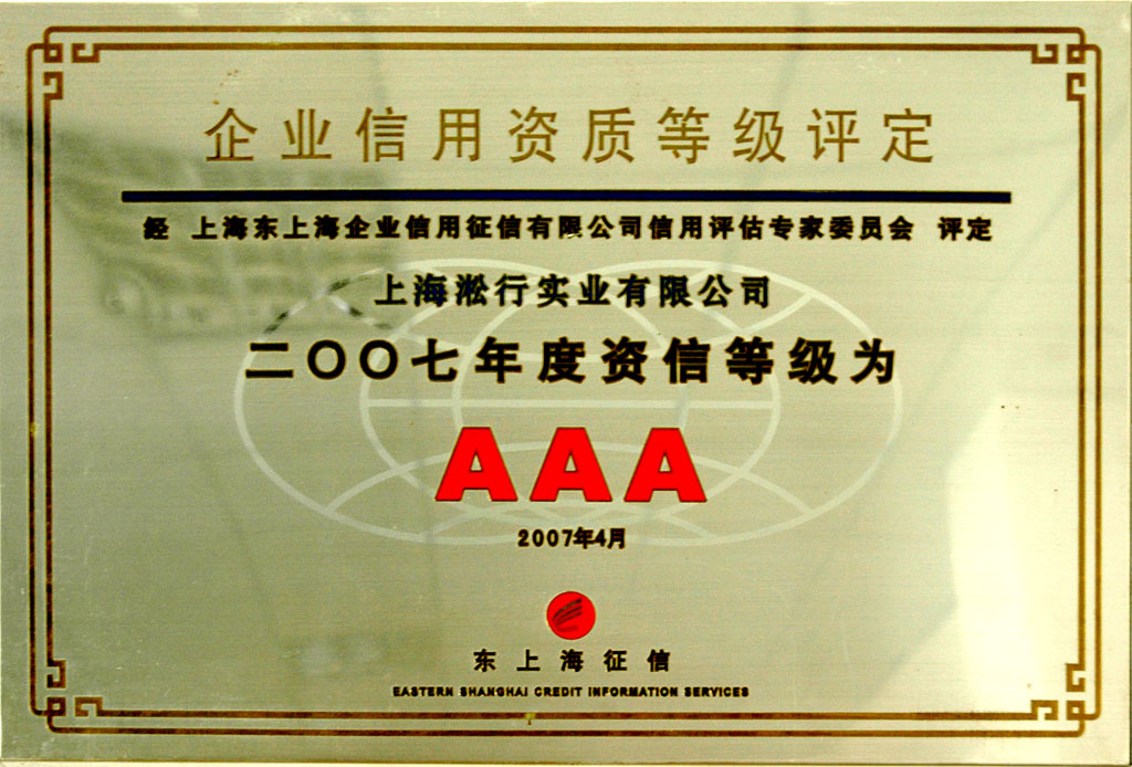 AAA credit rating of 2007
